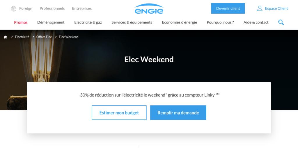 Avis Engie : Elec Week-end