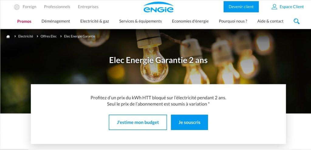 Avis Engie : Elec Energie Garantie<