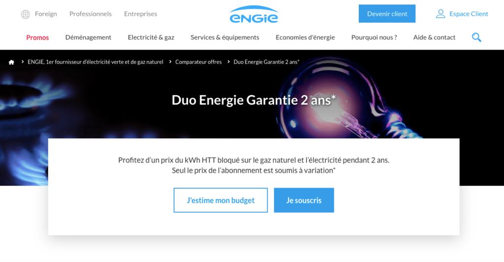 Avis Engie: Gaz Energie Garantie
