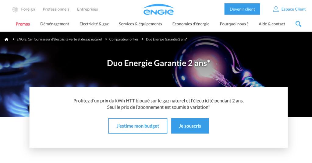 Avis Engie : l'offre Duo Energie Garantie<