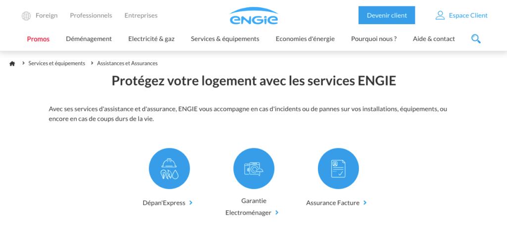 Avis Engie : les services additionnels