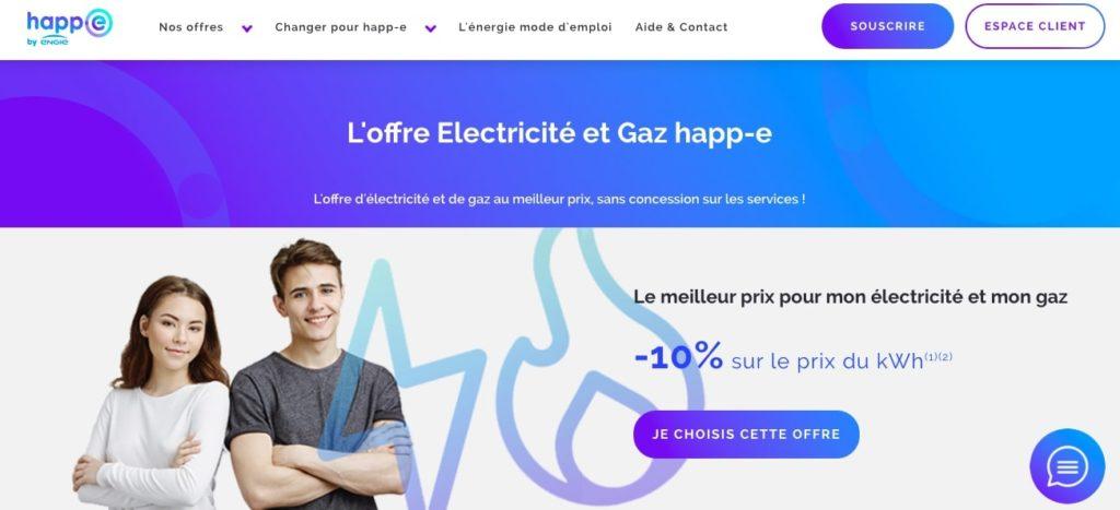 Avis Happ-e : Électricité Gaz