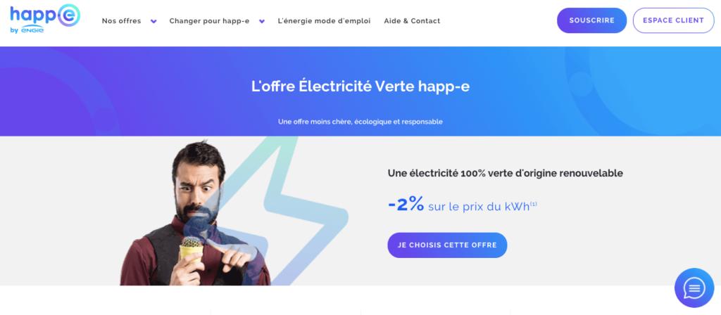 Avis Happ-e : électricité verte