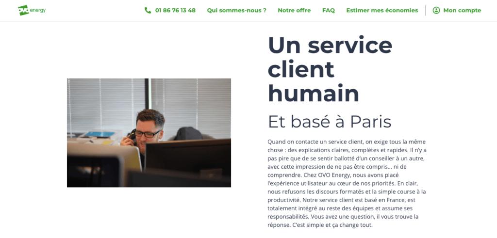 Avis ovoenergy : service client